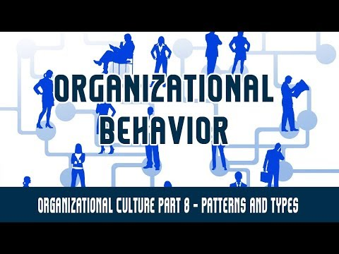 Management | Organizational Behavior | Organizational Culture Part 8 - Patterns and Types