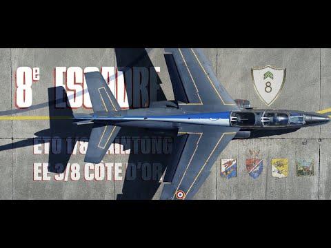 Les missions des Alphajet de la 8e escadre de chasse