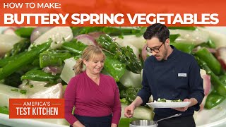 How to Make Buttery Braised Spring Vegetables