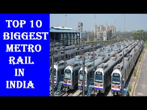 Top 10 Biggest Metro Rail in India | Top 10 Largest Metro system Metro Line  in India | Top Videos