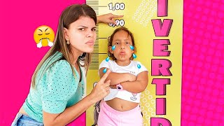 MC Divertida quer ser alta e pular no pula pula (kids wants to be taller & jump on a trampoline)