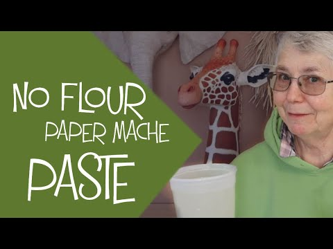 Paper Mache Paste With No Flour. Easy, Gluten-Free, And Cheap!