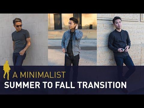 SUMMER TO FALL Style Transition | Men's Minimalist Fashion Lookbook