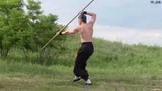 Shaolin kung fu, гунь-шу, 30 атак боевого шеста Шаолиня, медленно.