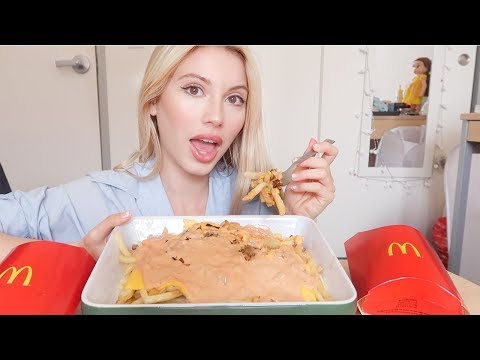 McDonald's Animal Style Fries Mukbang