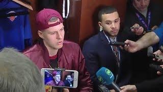 Kristaps Porzingis Postgame Interview / Knicks vs Cavaliers / Nov 13