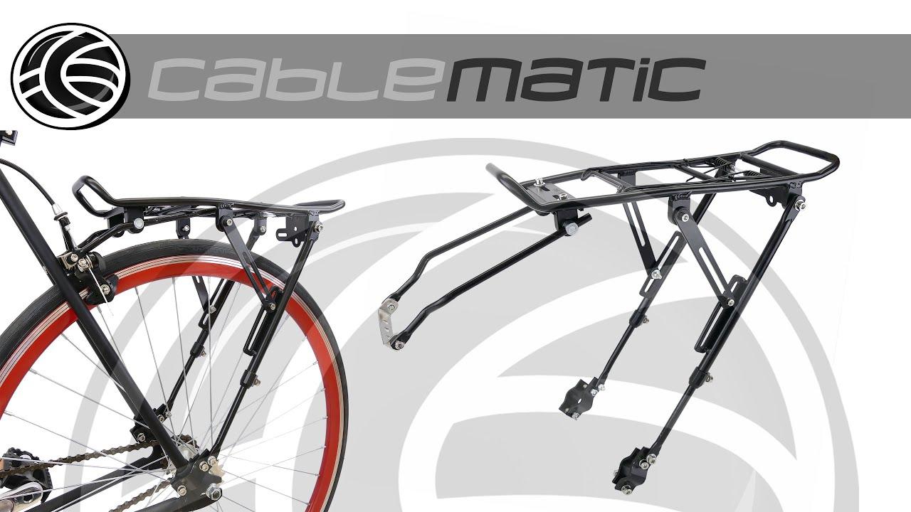 2417959aed2 Portaequipajes metálico trasero de bicicleta con palanca 39x34cm  distribuido por CABLEMATIC ®