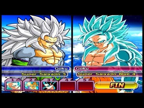 Super Sayajin 5 vs Super Sayajin 4 Blue!! Dragon Ball Z Budokai Tenkaichi 3 AF