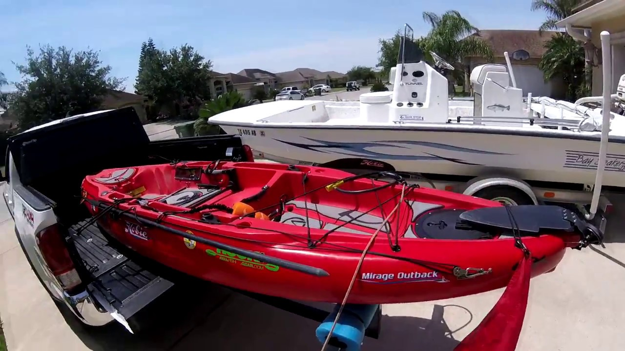 Transporting Kayak With A Harbor Freight Bed Extender