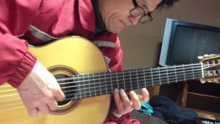 Korean teacher playing guitar