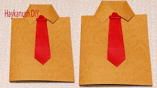 HOW TO MAKE A SHIRT CARD FOR FATHER