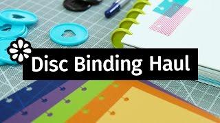 Disc Binding Haul: Notebook Covers, Rings & Supplies!   Sea Lemon