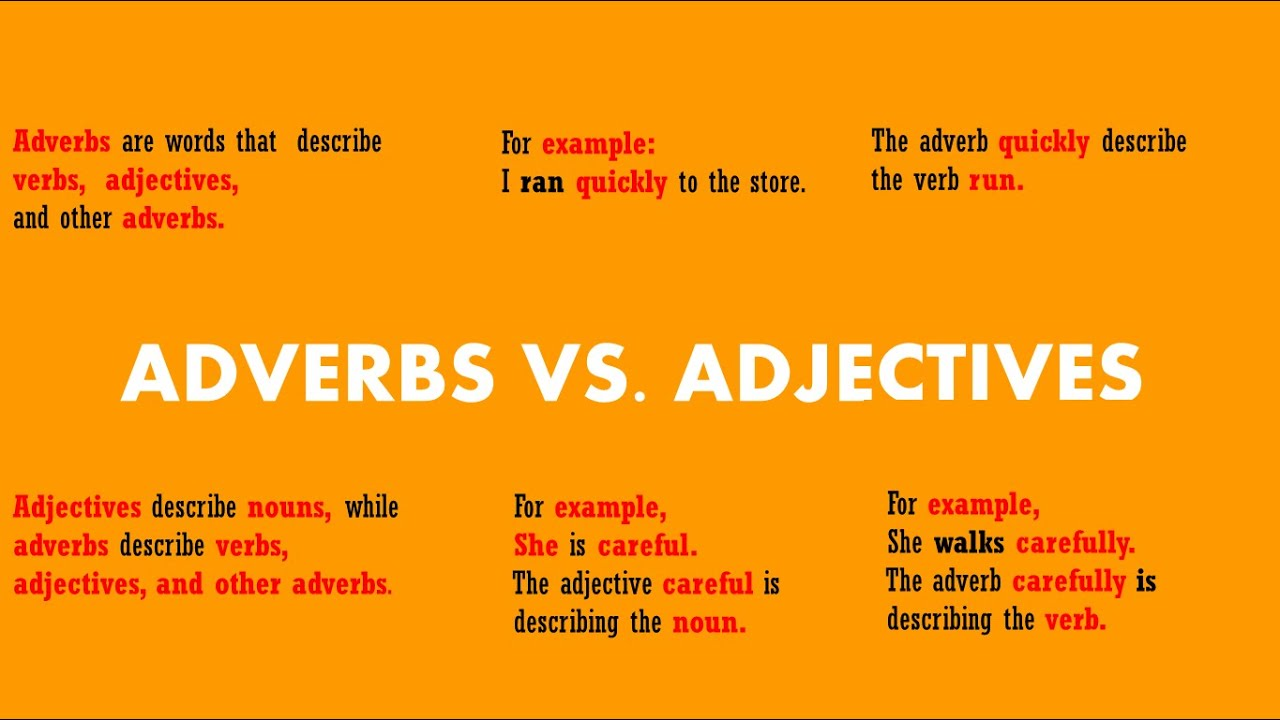 English Lesson Grammar Adverbs Vs Adjectives Youtube