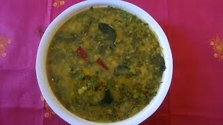 Palak Dal Spinach Dal  Pappu Palakoora in Telugu (పప్పు పాలకూర)