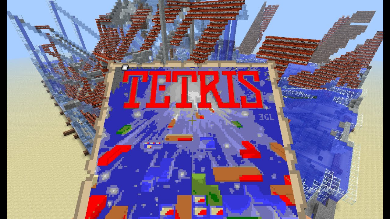 Tetris 30hour Time Lapse Pixel Art With Minecraft Map