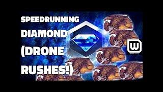 Starcraft 2: Speedrunning Diamond League! (with Drone Rushes)