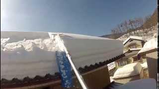 超高効率 いつまでもやっていたくなる屋根の雪下し器 roof snow removal