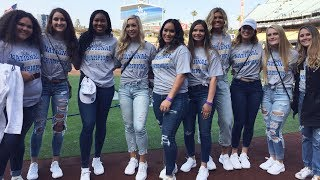 A warm welcome: UCLA softball student-athletes honored at Dodger Stadium for NCAA title