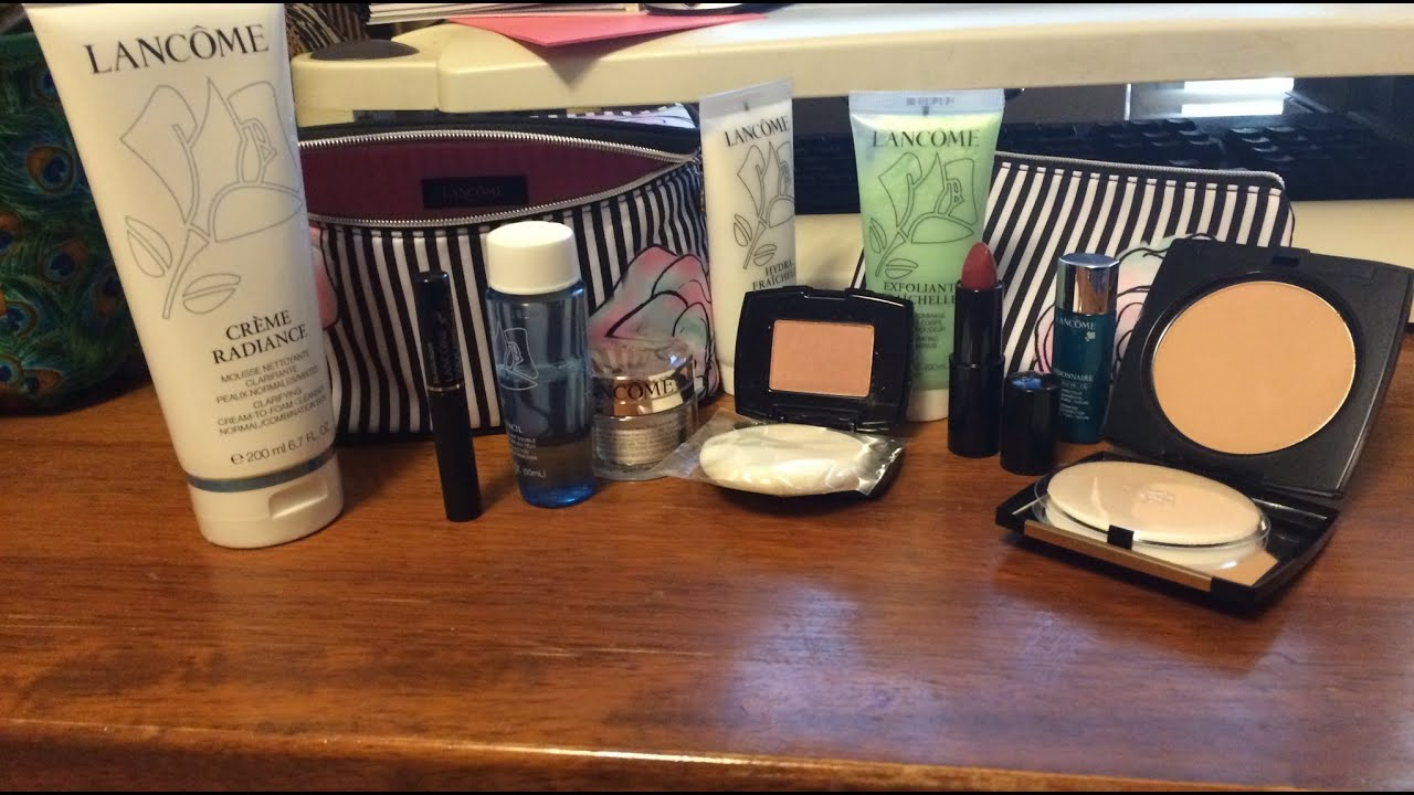 Spring 2015 Lancome Gift with Purchase Haul - YouTube