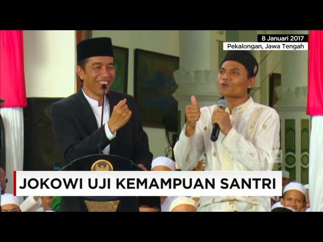 Jokowi Uji Kemampuan Santri (Revisi)