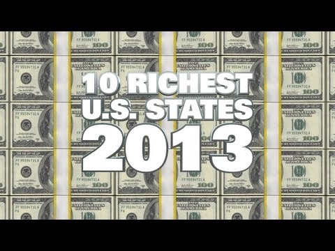 Top 10 Richest US States in 2013
