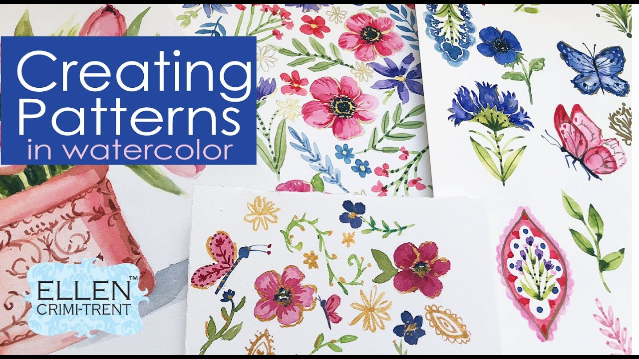 Watercolor Patterns for Beginners/ Watercolor tutorial