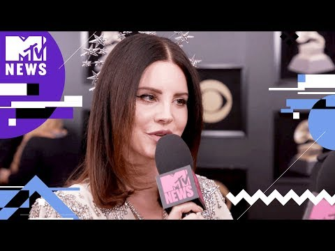 Lana Del Rey on 'Cherry' Music Video & #MeToo | GRAMMYs 2018 | MTV News