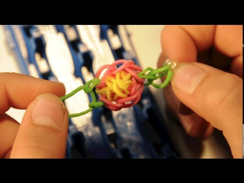 Video instruction rubber band toe ring flower with cra z loom rubber