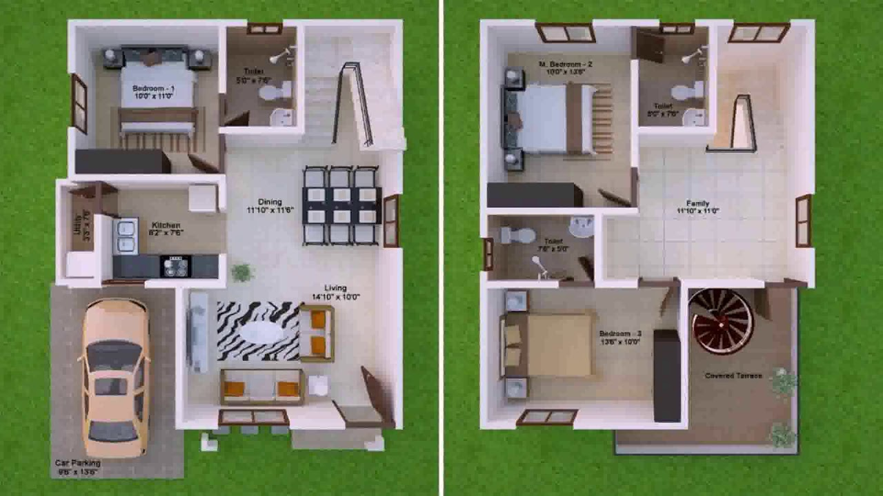 North Facing 3 Bedroom House Plans As