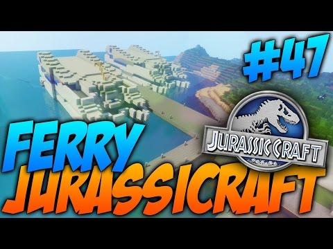 FERRY JURASSIC WORLD, TRENES Y RAPTORES!!! - Jurassicraft #47