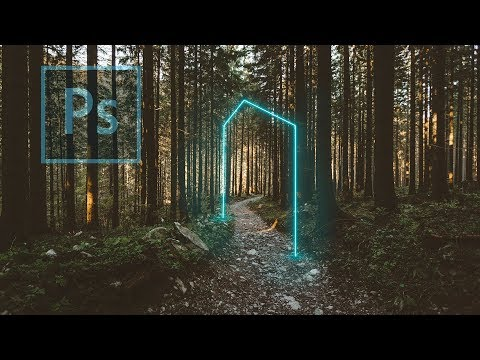 How To Create A Neon Lines In Photoshop | Lr | Ps