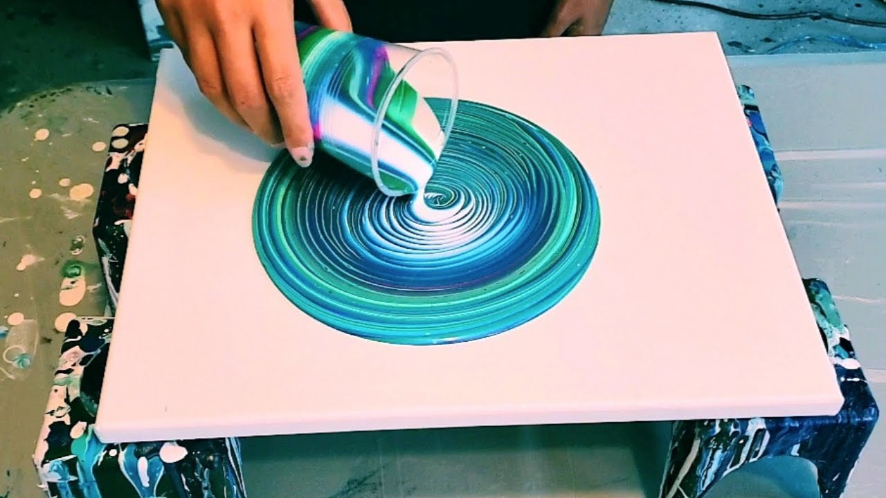 How To Make Easy Beautiful Beach Inspired Paint Pouring Art