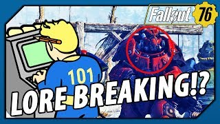 FALLOUT 76 - LORE BREAKING!? THIS could be WHY there is X-01 POWER ARMOR (Theory)