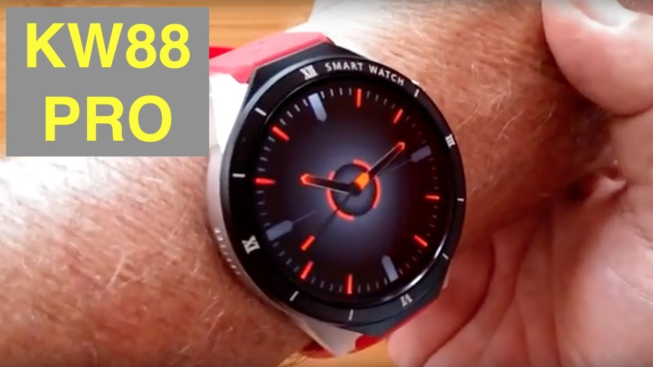 Kingwear Kw88 Pro Sleek 3g Android 7 1gb 16gb Smartwatch Unboxing