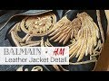 Balmain for H&M: Leather Jacket Close Up