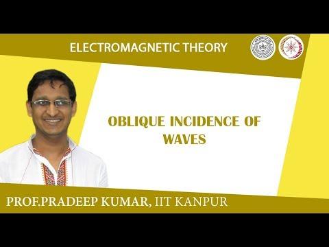 Oblique incidence of waves