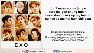 Easy Lyric EXO - TEMPO by GOMAWO [Indo Sub]
