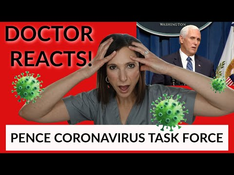 Doctor Reacts to VP Pence's Remarks at Coronavirus Task Force Briefing (NOT A Political Critique)