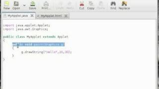 java applet tutorial for beginners