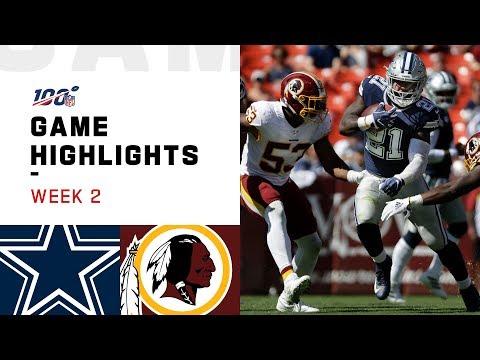 Cowboys vs. Redskins Week 2 Highlights | NFL 2019