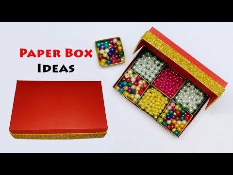 Paper Box Ideas | Paper Box with Lid | Gift Box Ideas | Handmade Storage Box