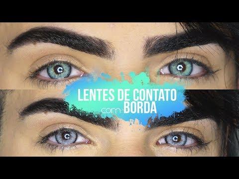 LENTES DE CONTATO COM BORDA - UMA RAPIDINHA