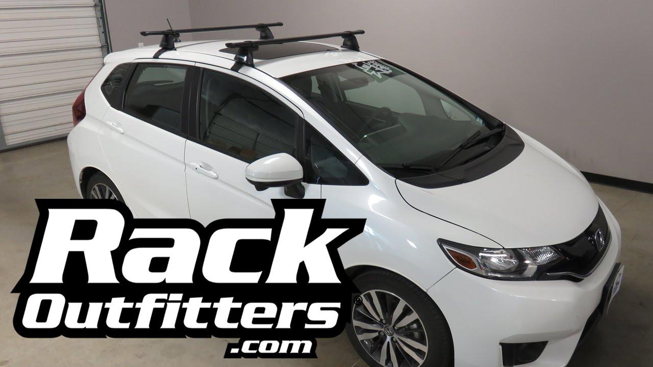 2015, 2016+ Honda Fit With Yakima BaseLine CoreBar Roof Rack Crossbars