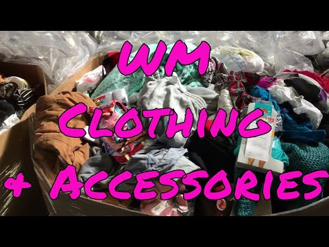 WM Assorted Clothing and Accessory Pallets