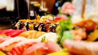 Sushi /Love Boat Sushi寿司刺身传统木头船摆盘,美味可口/How to make sushi Series