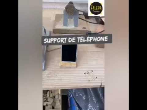 Tuto Support telephone en bois FALEPA Corsica
