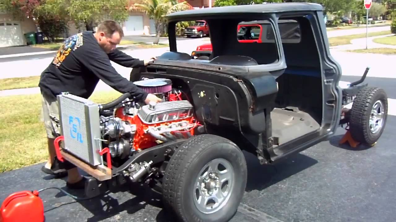 All Chevy 63 chevy c10 : 1963 chevy C10 454 start up - YouTube