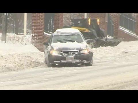 Roads dangerously slick on Worcester hills