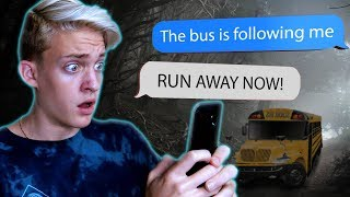 THE SCHOOL BUS IS FOLLOWING ME 🚌 (Scary School Text Story) #1