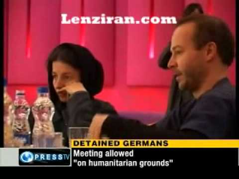 German detailned journalists visited by family  in Tabriz